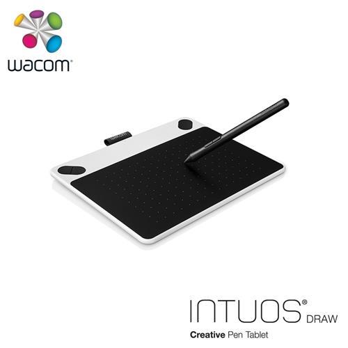 Wacom Intuos Draw 塗鴉創意繪圖板-白(小)送微軟鍵盤~228止