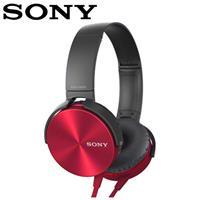 SONY 索尼 XB450AP 重低音頭戴式耳機麥克風 紅