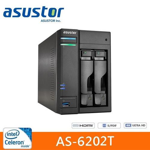 ASUSTOR 華芸 AS-6202T 2Bay 網路儲存伺服器