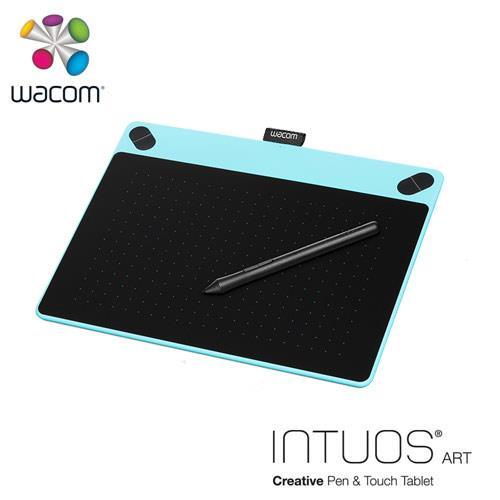 Wacom Intuos Art 藝術創意觸控繪圖板-藍(中)送微軟鍵盤~3/31