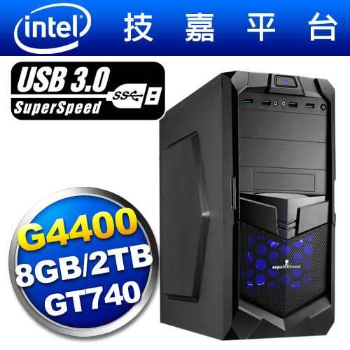 技嘉B150平台【虛空炎神】雙核GT740獨顯電玩機