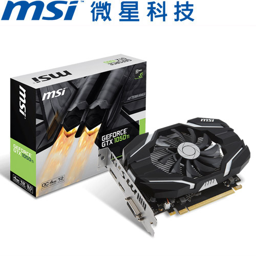 MSI微星 GeForce® GTX 1050 Ti 4G OC 顯示卡