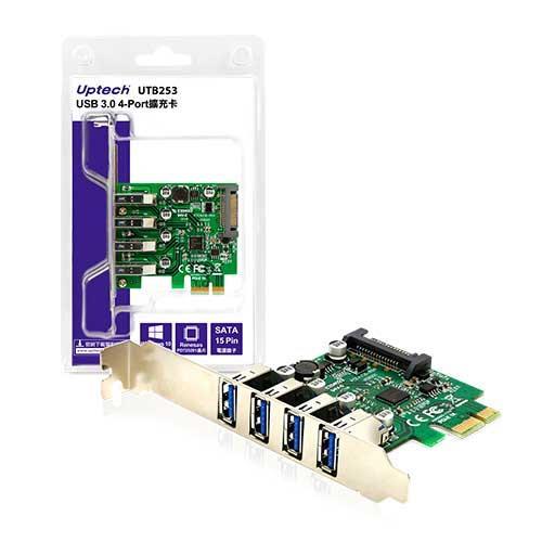 Eclife-Uptech UTB253 USB3.0 4-port