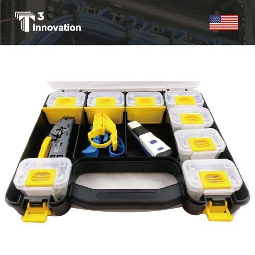 美國T3 K0901 網路專業工具套組_網路線剝線,壓線及打線