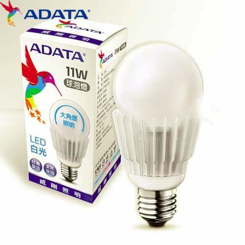 ADATA威剛11W大角度LED球燈泡-白光