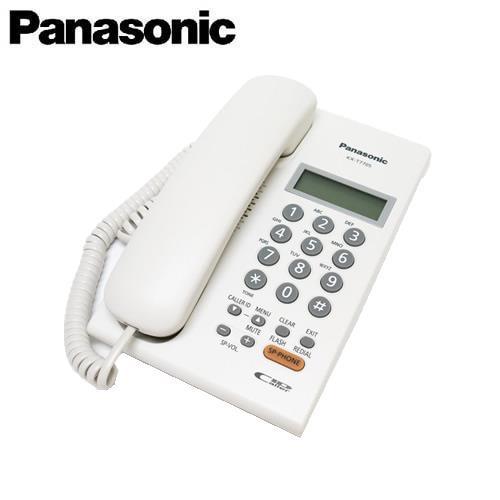 Panasonic 國際牌 全免持擴音對講來電顯示有線電話 KX-T7705 白
