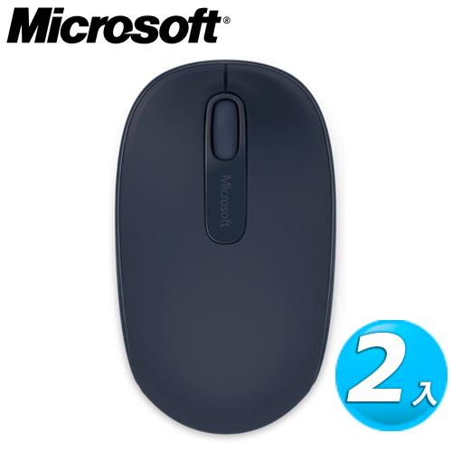 【2入組】Microsoft 微軟 1850 無線行動滑鼠 神秘藍