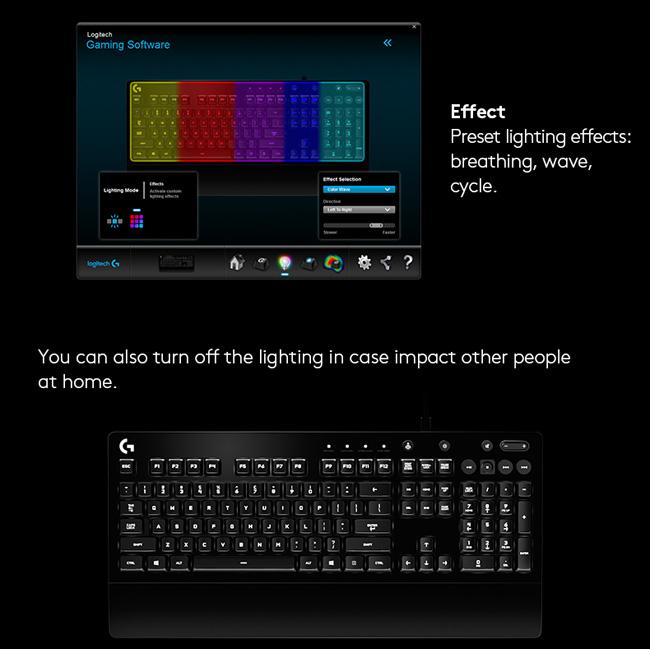 Logitech 羅技 G213 PRODIGY RGB遊戲鍵盤|EcLife良興購物網