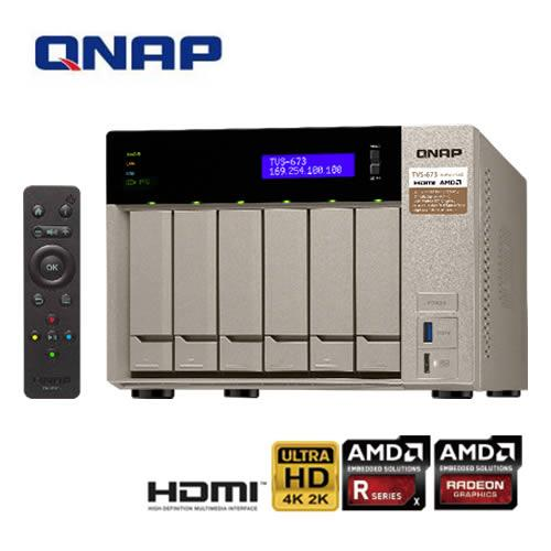 QNAP威聯通 TVS-673-64G 6Bay網路儲存伺服器