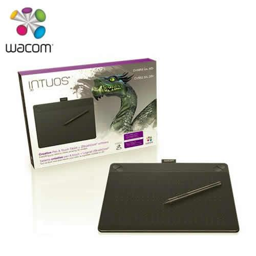 WACOM Intuos 3D 創意觸控繪圖板 Medium(黑)送電競鍵盤~228止