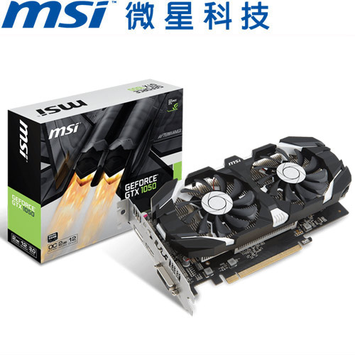 MSI微星 GeForce® GTX 1050 2GT OC 顯示卡