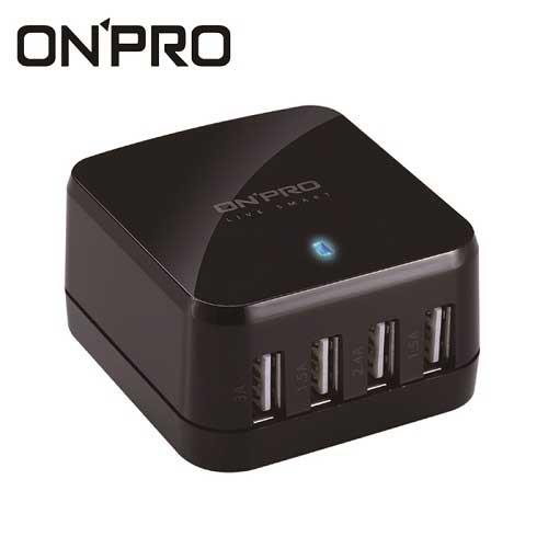 ONPRO UC-HS68W 4孔USB萬國急速充電器(5V/6.8A)-黑色