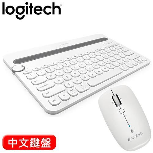 【雙11套餐】Logitech 羅技 K480藍牙鍵盤+M557無線滑鼠 白
