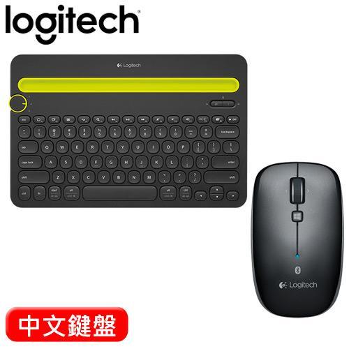 【雙11套餐】Logitech 羅技 K480藍牙鍵盤+M557無線滑鼠 黑