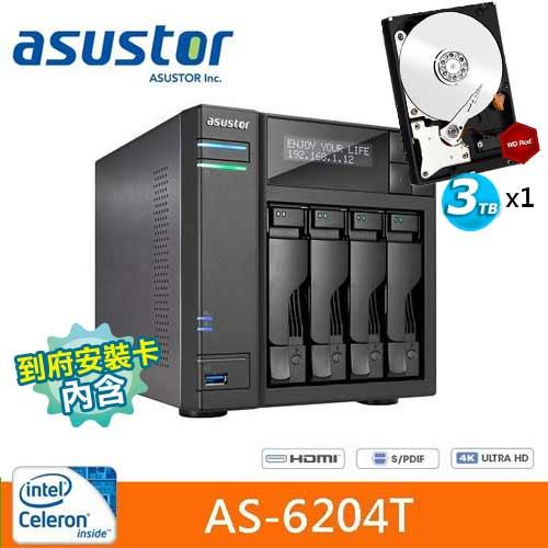 AS-6204T搭WD 紅標 3TB 1