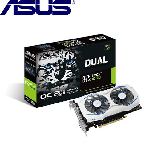 ASUS華碩 GeForce DUAL-GTX1050-O2G 顯示卡