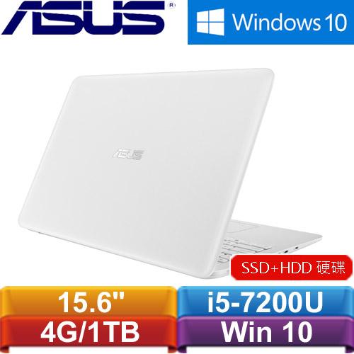 ASUS華碩 K556UQ-0243G7200U 15.6吋筆記型電腦 天使白