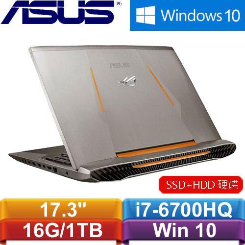 R1【福利品】ASUS華碩 ROG G752VM-0021A6700HQ 17.3吋電競筆記型電腦