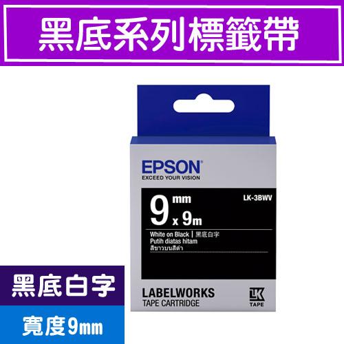 Eclife-EPSON LK-3BWV S653412 ()9mm