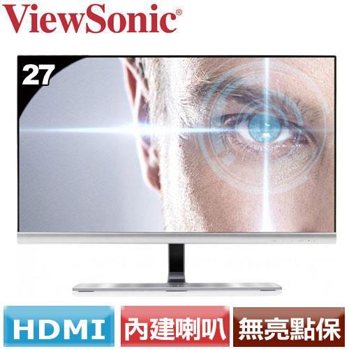 ViewSonic優派 27型絕美頂級液晶螢幕 VX2771-smhv-2 銀