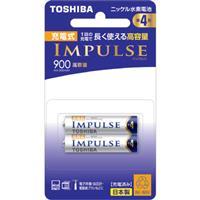 TOSHIBA東芝 4號900mah充電電池 2入(日本製)