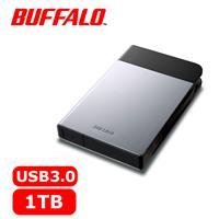 BUFFALO 2.5吋 1TB 軍規防震加密行動硬碟 銀 HD-PZF