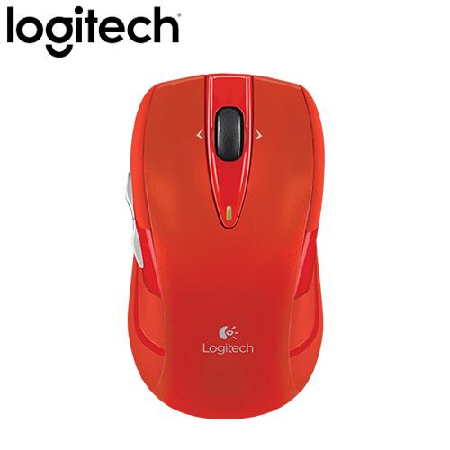 Logitech 羅技 M545 無線滑鼠 橘紅