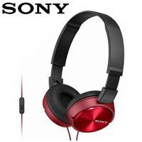 【公司貨-非平輸】SONY 索尼 MDR-ZX310AP 全系列智慧型手機線控耳罩式耳機  紅