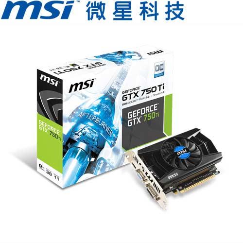 MSI微星 GeForce® N750TI-2GD5/OCV1 顯示卡