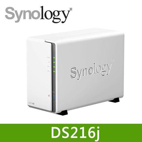 Synology 群暉 DS216j 網路儲存伺服器