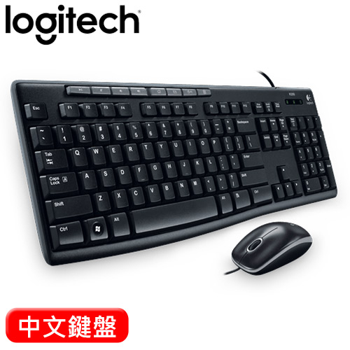Logitech 羅技 MK200 USB有線鍵盤滑鼠組