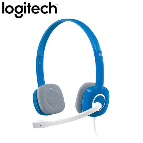 Logitech 羅技 H150 立體聲耳機麥克風 藍