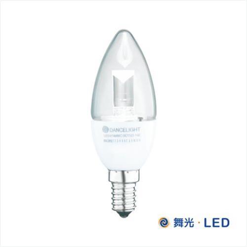 舞光 LED E14 水晶蠟燭燈 ^(白座尖清^)