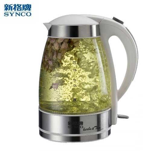 新格1.7L花茶玻璃電茶壺 SEK-1706ST