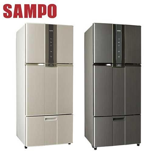 SAMPO聲寶 580公升一級變頻三門冰箱SR-N58DV(Y2)炫麥金