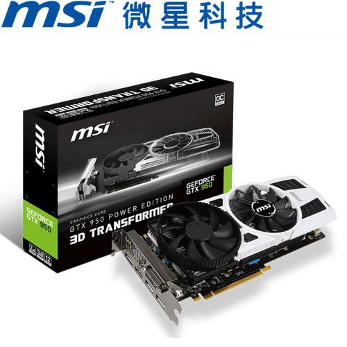 MSI微星 GeForce® GTX 950 PE 2GD5 OC 顯示卡