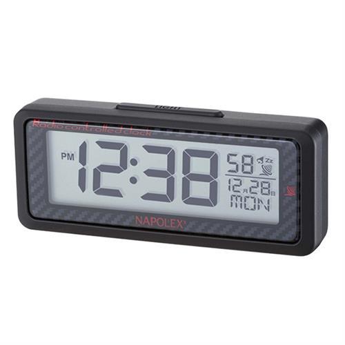 日本NAPOLEX 車用電波時鐘(碳纖紋) Fizz-1013