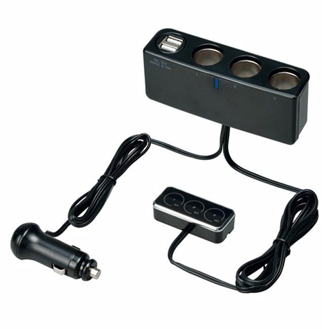 日本SEIWA 2.4A USBx2+3孔 延長線黏貼感應式開關 電源擴充插座 F256