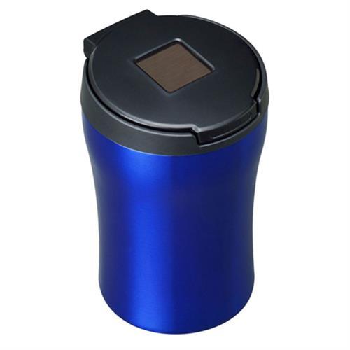 日本SEIWA 不銹鋼太陽能夜間感應式LED燈 煙灰缸(藍)