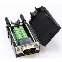 高清VGA15P 公(3+9)免焊式DIY接頭組合包 (長螺絲)