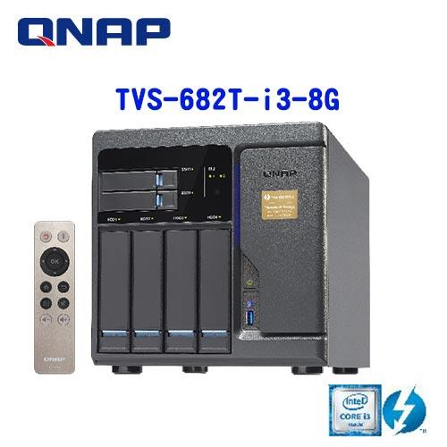 QNAP威聯通 TVS-682T-i3-8G 6Bay網路儲存伺服器