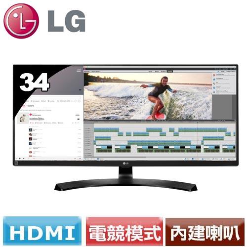 LG 34型 21:9 UltraWide 頂級電競螢幕 34UM88