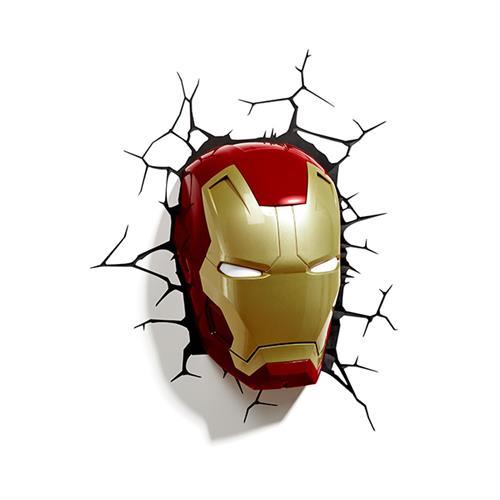 MARVEL復仇者聯盟 3D夜燈-鋼鐵人面罩