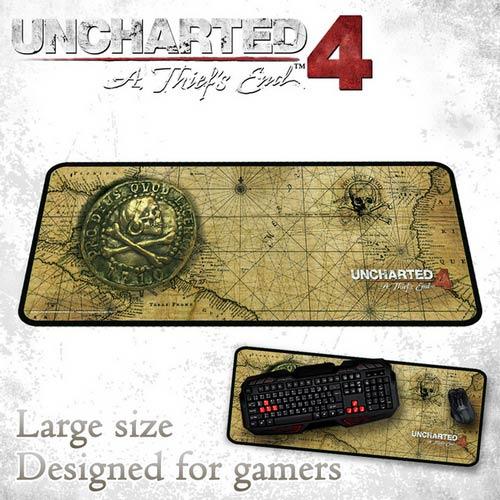 PS4 周邊 秘境探險4:盜賊末路 電競滑鼠墊 藏寶圖探險款