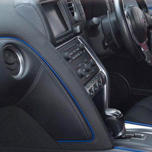 SEIWA 極細2mm 車內裝飾條^(藍^) K390