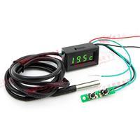 0.30四位元三合一溫度/時間/電壓數位錶頭-黑殼綠光