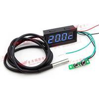 0.56四位元 溫度/時間/電壓三合一LED錶頭(黑殼藍光)