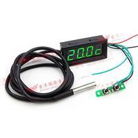 0.56四位元 溫度/時間/電壓三合一LED錶頭(黑殼綠光)