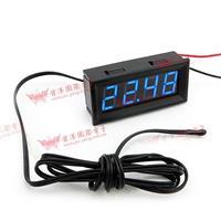 防水型0.56四位元 LED溫度錶頭/熱敏電阻(黑殼藍光)