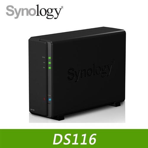 Synology 群暉 DS116 1Bay 網路儲存伺服器